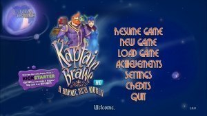 Kaptain Brawe Brave New World Review GBAtemp Another World Title Screen