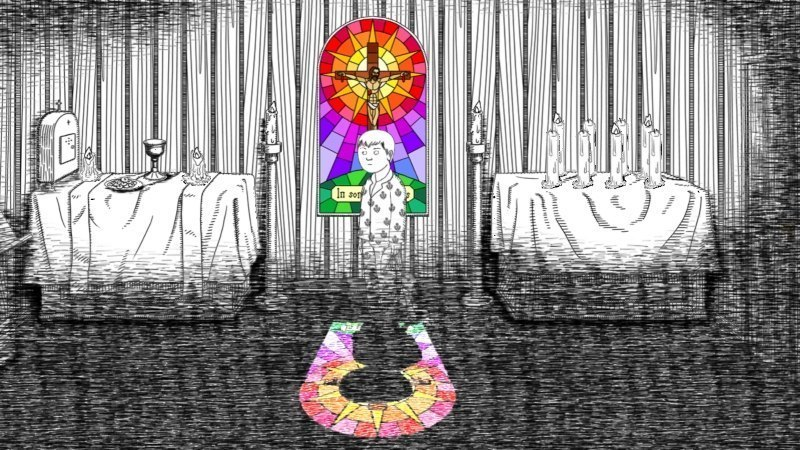 Neverending Nightmares OUYA Review GBAtemp by Another World Stained Glass