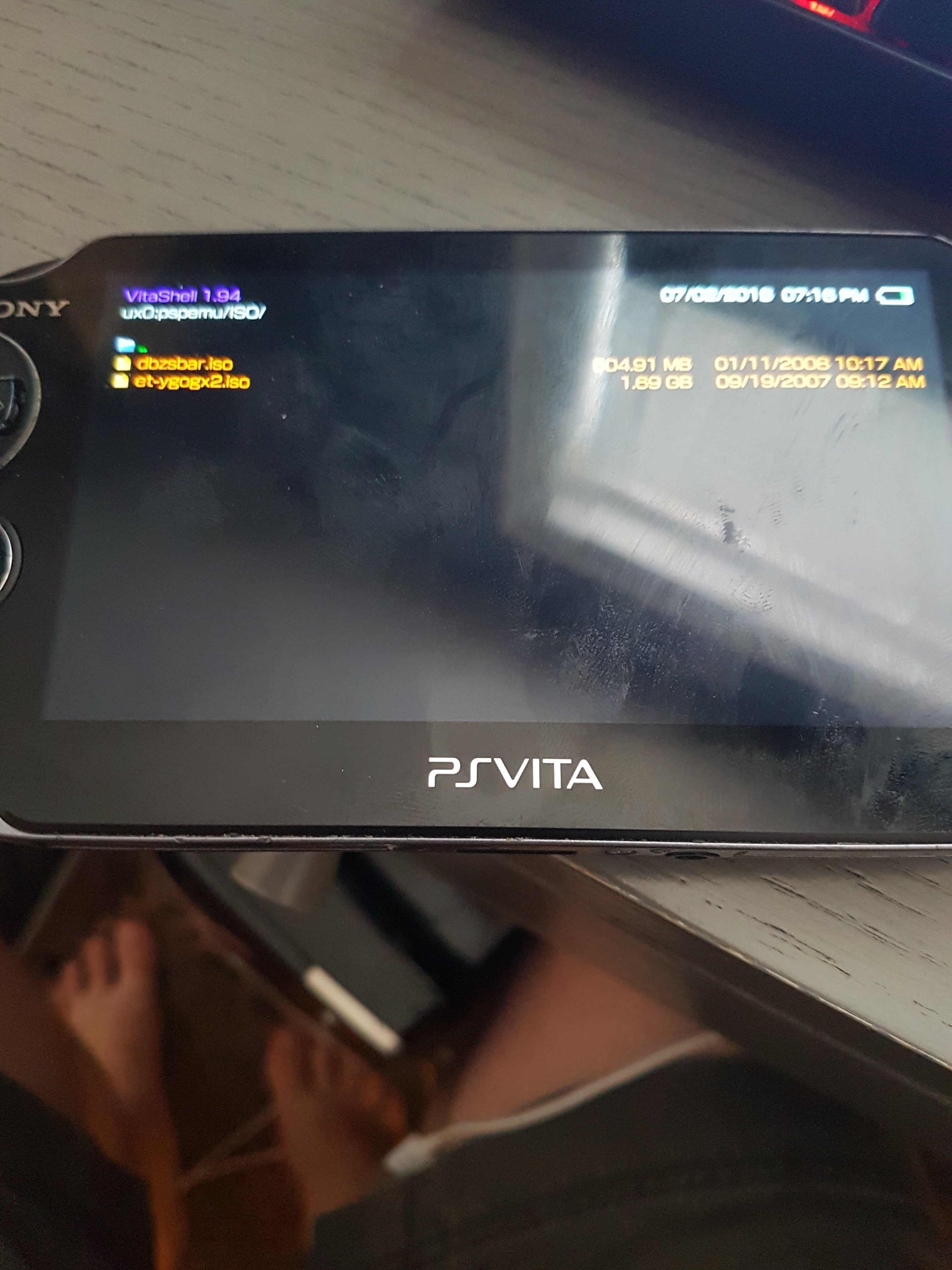 Adrenaline can't see PSP/PS1 games put into vitashell via PC