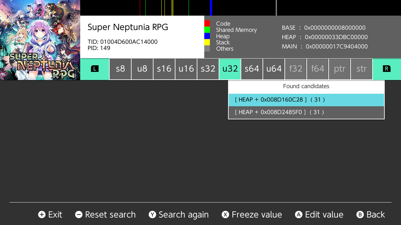 Super Neptunia Rpg LvL 800+ and 1Mil money Save Nintendo Switch