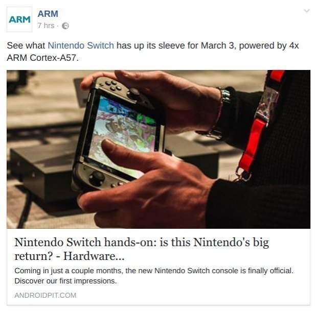 ARM confirms Switch is powered by four Cortex-A57 cores | GBAtemp