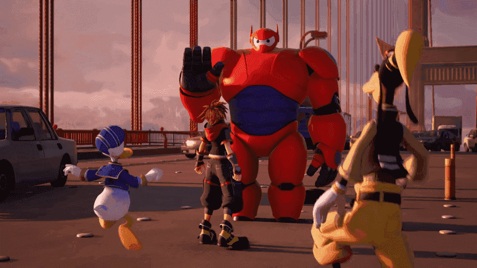Here's a good look at Kingdom Hearts III's Big Hero 6 world