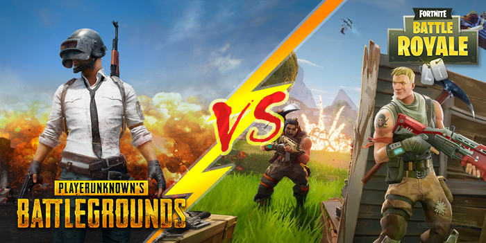 Image result for PUBG and Fortnite