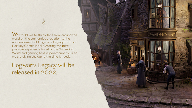 Hogwarts Legacy delayed into 2022