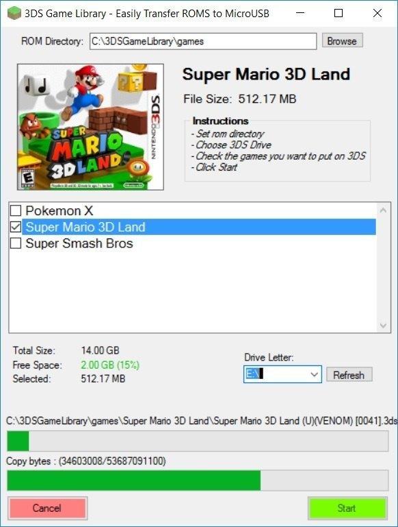 3DS ROM Library / USB transfer program for PC | GBAtemp net