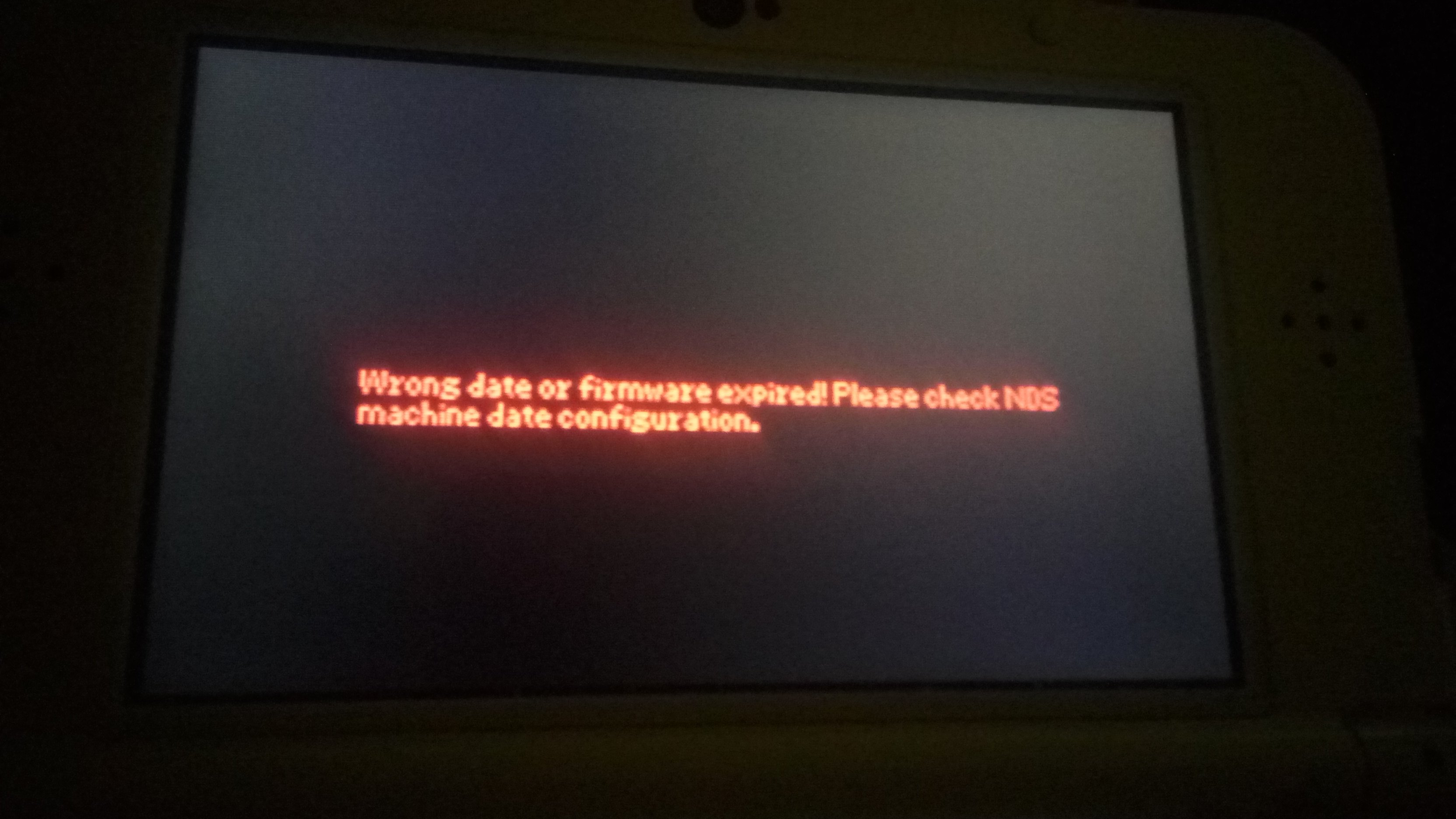 wrong date or firmware expired nds r4i