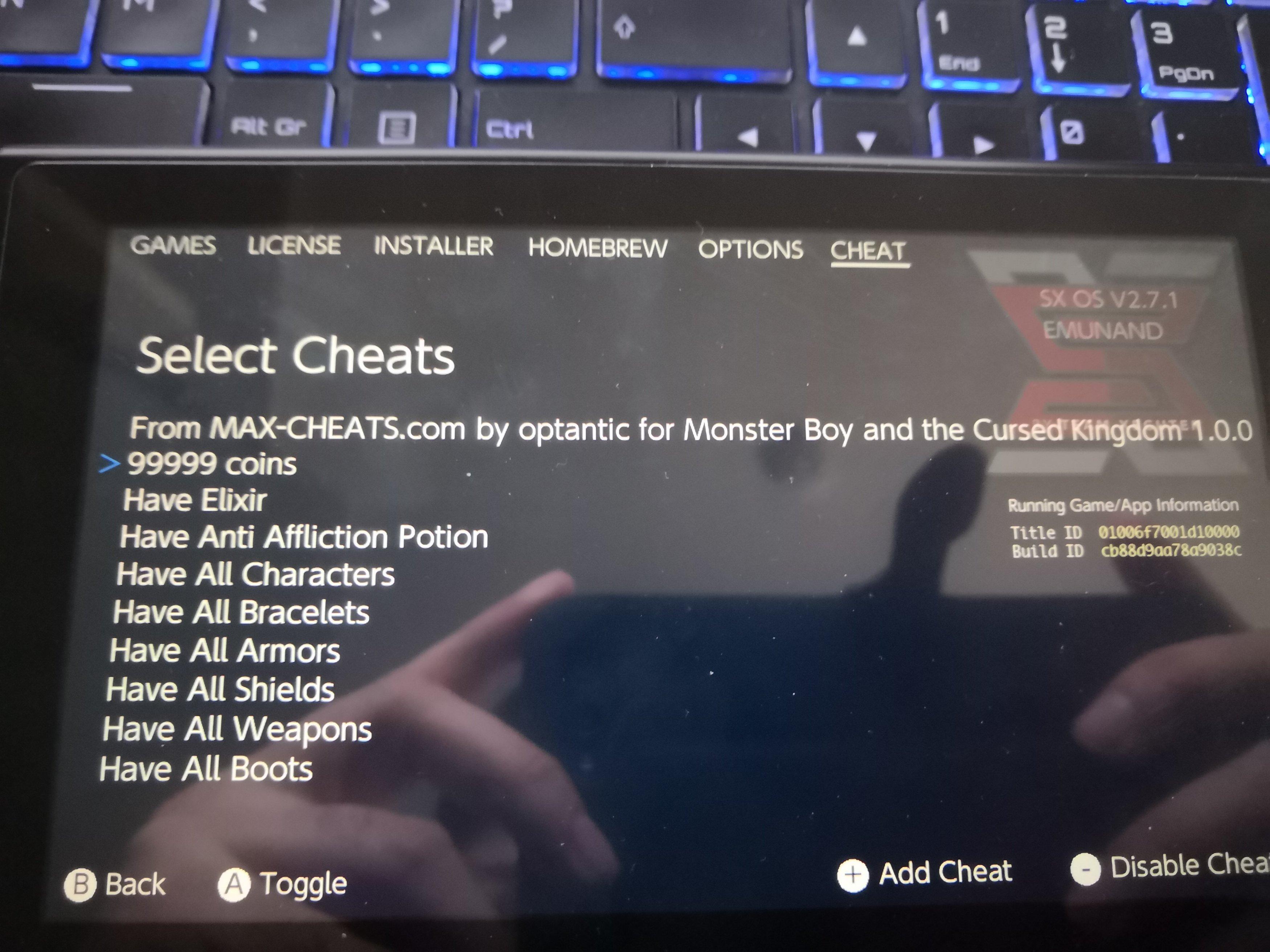 Cheats file not working sx os emunand | GBAtemp net - The