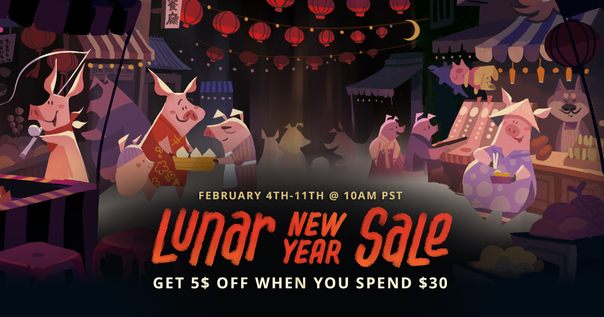Steam Lunar New Year Sale Now Open With PC Discounts And Bonuses
