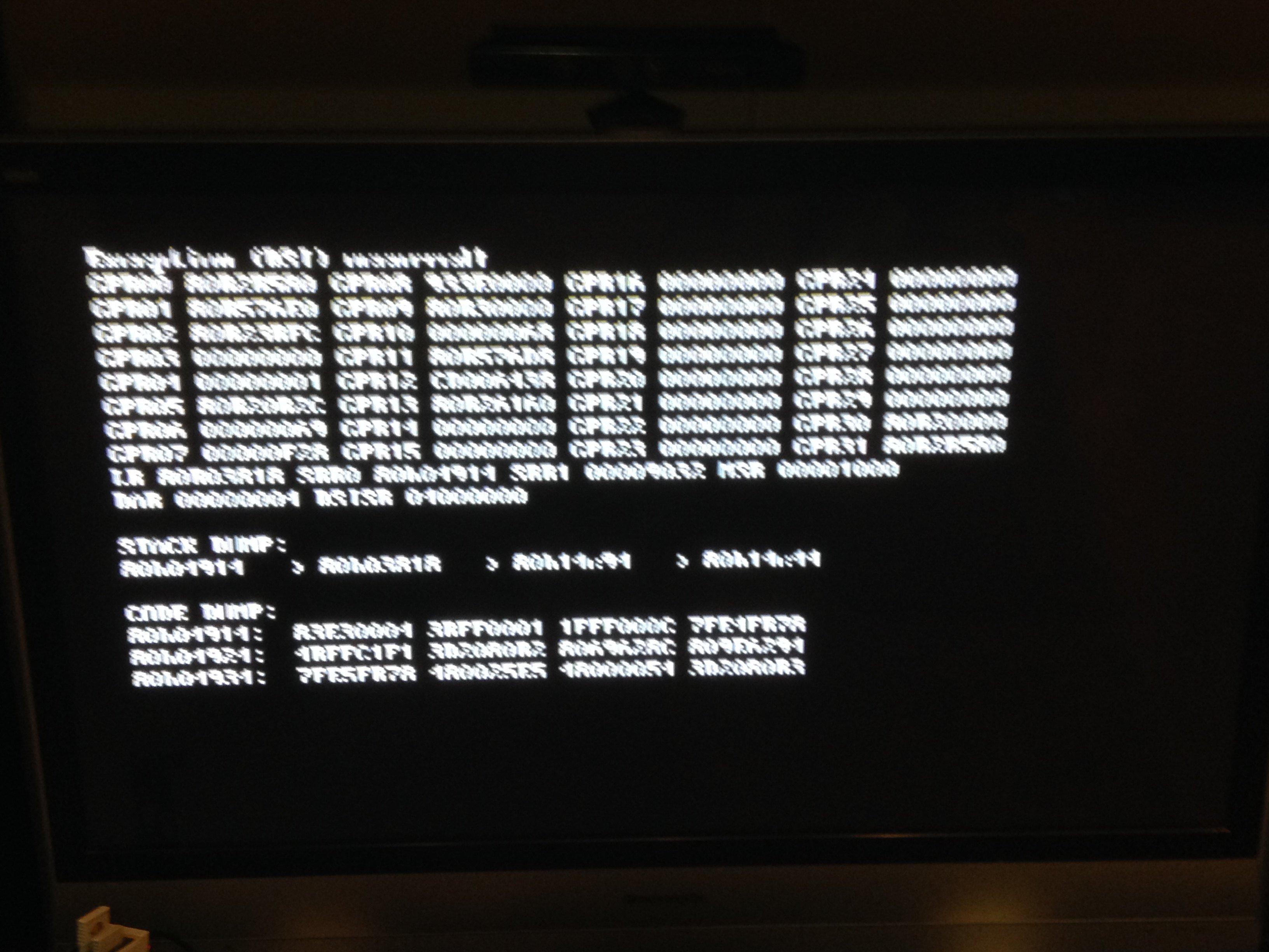 Black screen on load then return to system menu ... - GitHub