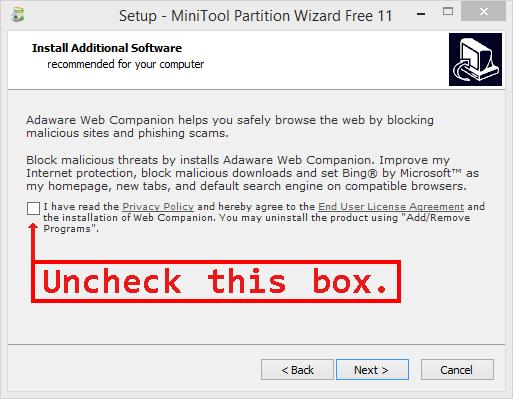 MiniTool install precaution.png