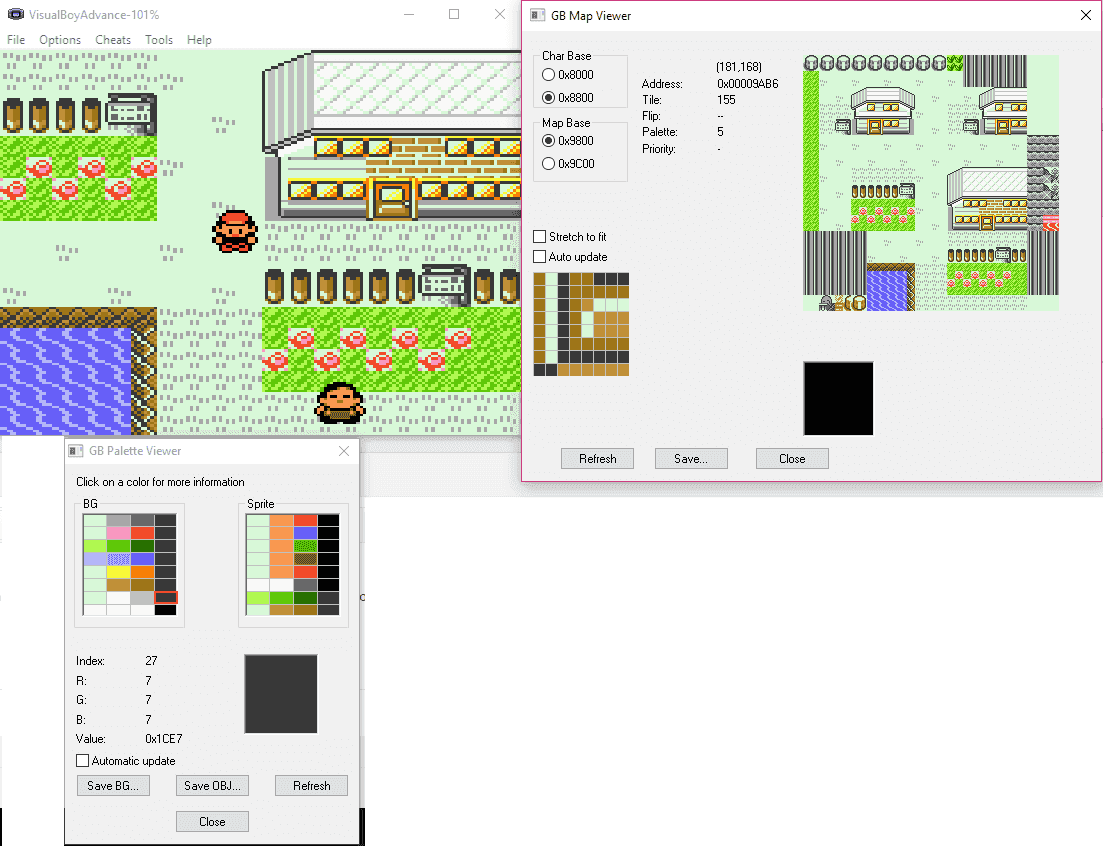 Gameboy color palettes - Pallets Png