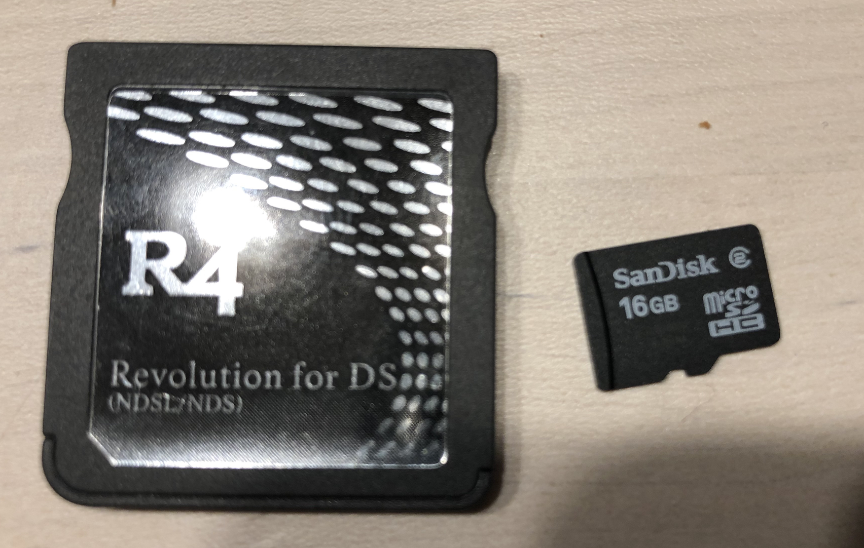Help with DS Lite, R4 card without (i) Logo, Micro-SD cart and