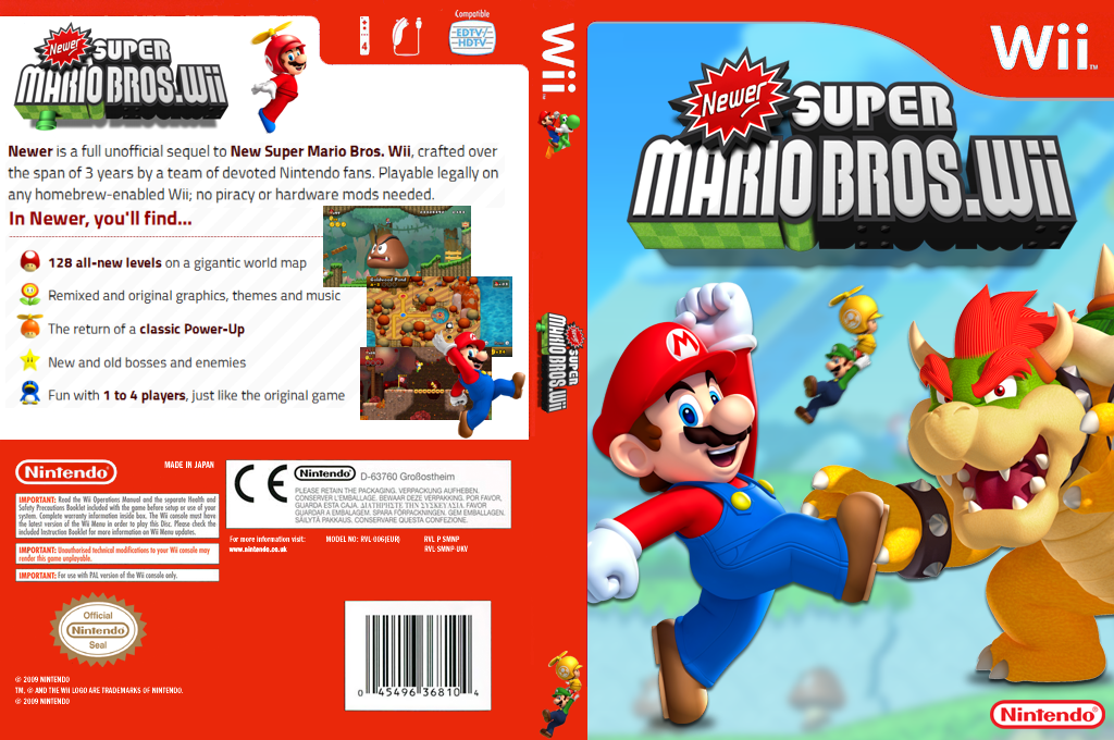 New Er Smb Wii Custom Games Covers Banners Gbatemp Net The