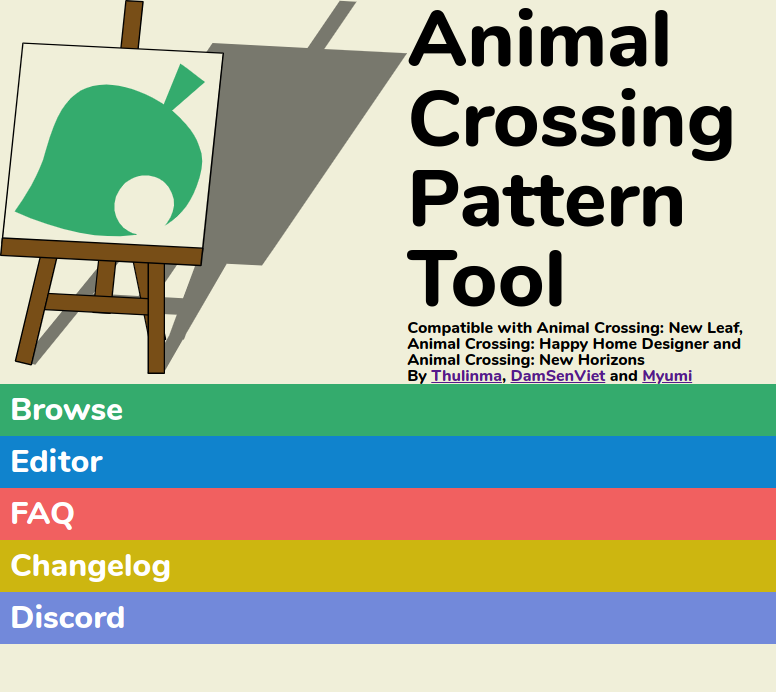 Animal Crossing Pattern Tool Database New Version Now Live
