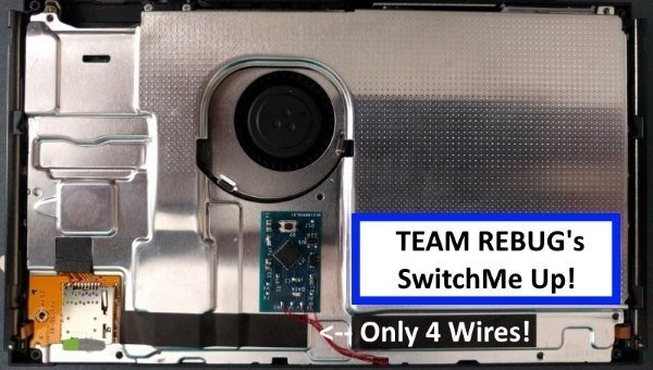 Team Rebug SwitchMe UP - Modchip installed and working