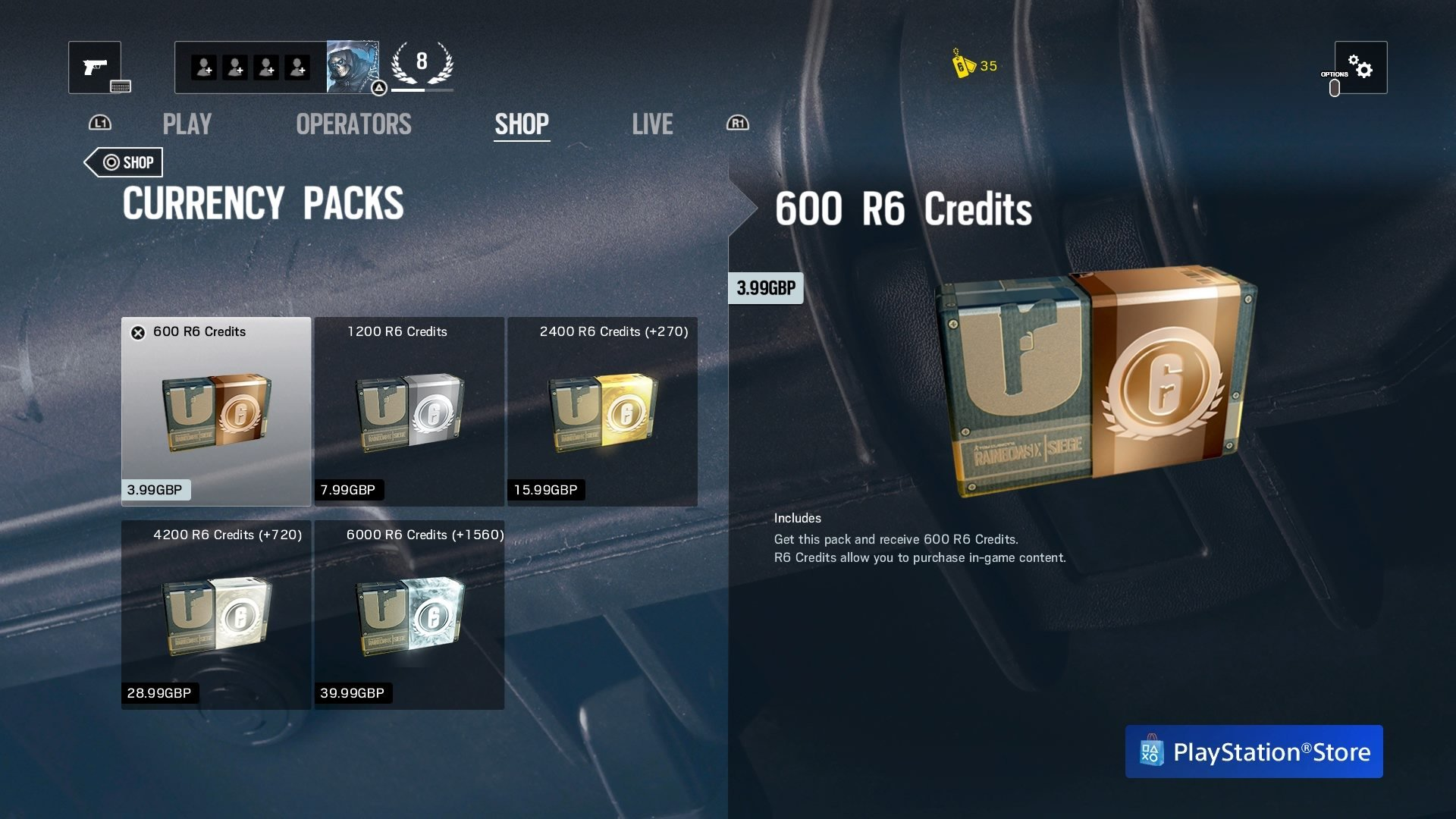 what to buy with r6 credits