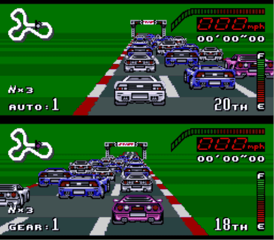 Image result for top gear Car selection screen SNES