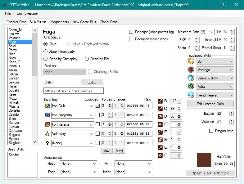 FEFTwiddler - Fire Emblem Fates Save Editor | GBAtemp net