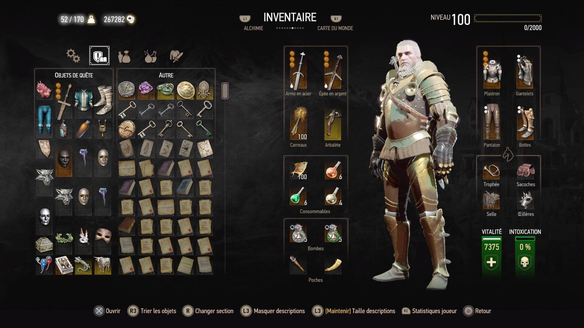 Witcher 3 Save 100 % Perso LVL 100.jpg