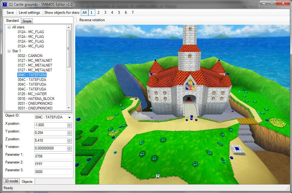 Super Mario 64 DS Editor v1 01 released | GBAtemp net - The