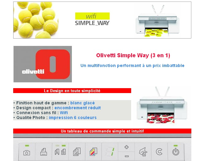 pilote imprimante olivetti simple way