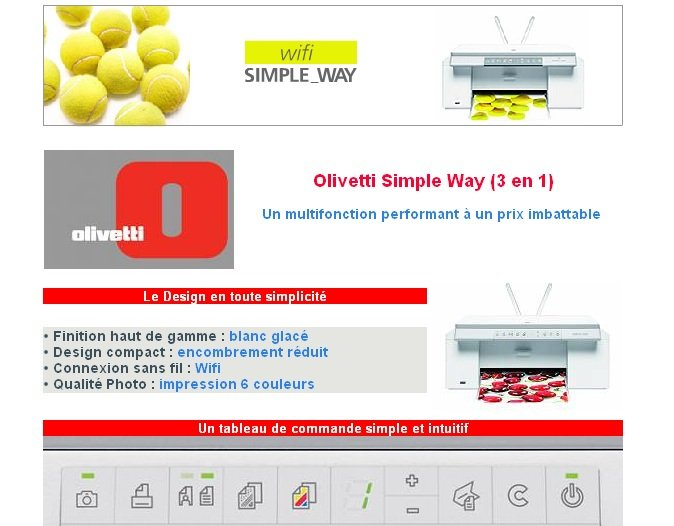 driver imprimante olivetti simple way